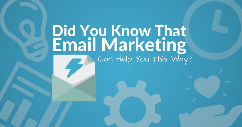 email marketing can help